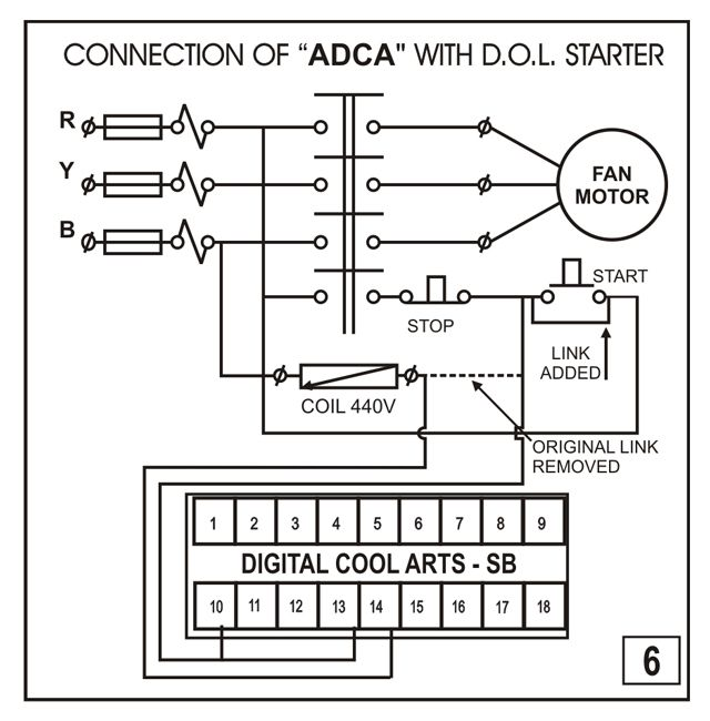 Dol Starter With Single Phase Preventer Connection Diagram